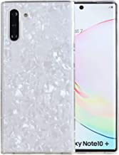 Galaxy Note 10 Plus Case, Note10+ 5G Case, iYCK Luxury Bling Glitter Sparkle Shiny Flexible Ultra Thin Slim Fit Soft Rubber TPU Protective Bumper Cover Case for Samsung Galaxy Note 10 - Shell Silver