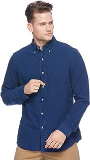 RALPH LAUREN Men Solid Sport Oxford Shirt (M, IndigoBlue)