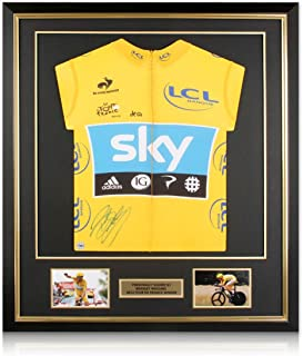 Bradley Wiggins Signed Tour De France 2012 Yellow Jersey Deluxe Frame | Autographed Cycling Jersey