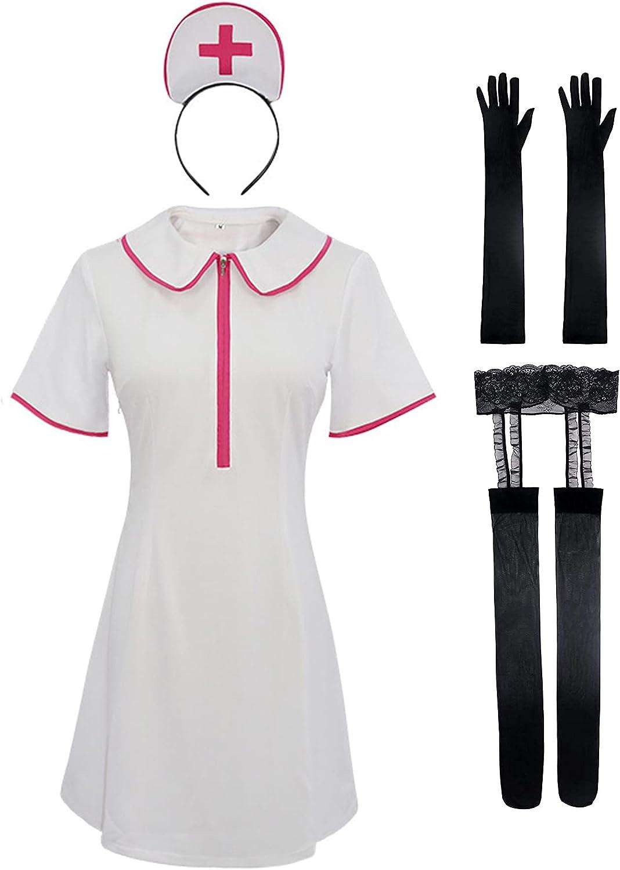 Refaa Motosierra Hombre Enfermera Ropa Cosplay Vestido Disfraz Juego Trajes de Juego para Halloween Carnival Anime Exhibition