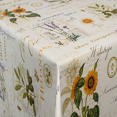 EHT Tischdecke Wachstuch Gartentischdecke rund eckig oval in verschiedenen Größen Meterware Wachstischdecke Olea Design