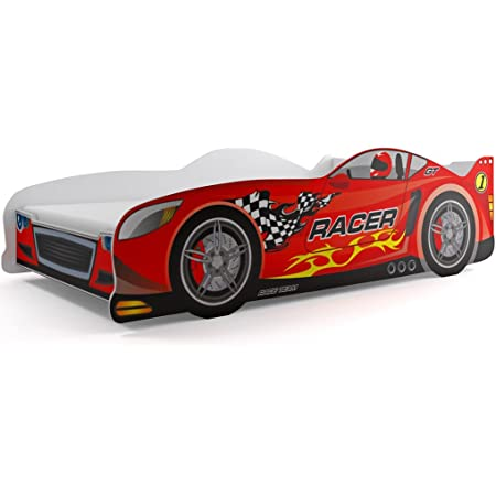 Cama Auto coche Cars 160 x 80, con somier y colchon