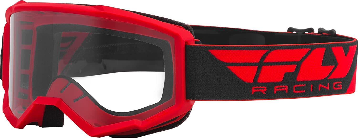 Red Mirror//Smoke//One Size Fly Racing Youth Single Lens with Post Off-Road Motorcycle Goggle Accessories