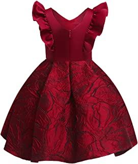 ❤️ Mealeaf ❤️ Floral Baby Girl Princess Bridesmaid Pageant Gown Birthday Party Wedding Dress(12m-7y)