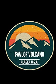 Pavlof Volcano Alaska U.S.A.: 6x9 inch travel size 120 pages lined journal / notebook.