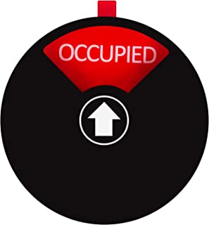 Kichwit Privacy Sign for Offices or Homes - Do Not Disturb Sign, Restroom Sign, Office Sign, Conference Sign, Vacant Sign, Occupied Sign - Tells Whether Rooms are Vacant or Occupied, 5 Inch, Black