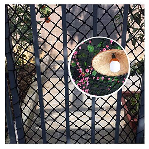 Gartennetze,Balkon-Netz Sicherheitsnetz füR Kinder Schutznetz Kinder Sicherheitsnetz Balkonnetz Seilnetz Decorative Dekor Fracht Nylon Gitter Spalier Kletternetz Sicherheits GepäCknetz Pflanzenetz