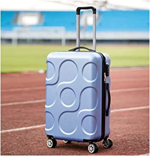 XIAO Suitcase for hard shell caster portable TSA lock mute wheel suitcase, color, dark grey, size (35 * 23 * 50) cm Happy day (Color : Light blue, Size : 14 * 10 * 20 inch)