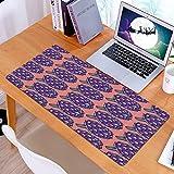 Alfombrilla Ratón Grande Gaming Mouse Impresión de Verduras Romanas de alcachofa,Base de Goma, Portátil, Ordenador