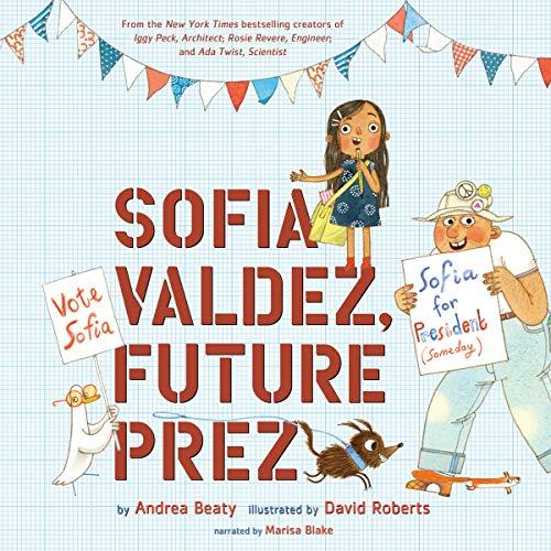 Sofia Valdez, Future Prez audiobook cover art