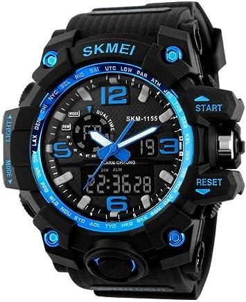 Relojes de Hombre 2018 Reloj LED Sport Water Resistant Watch Digital Men RE0103