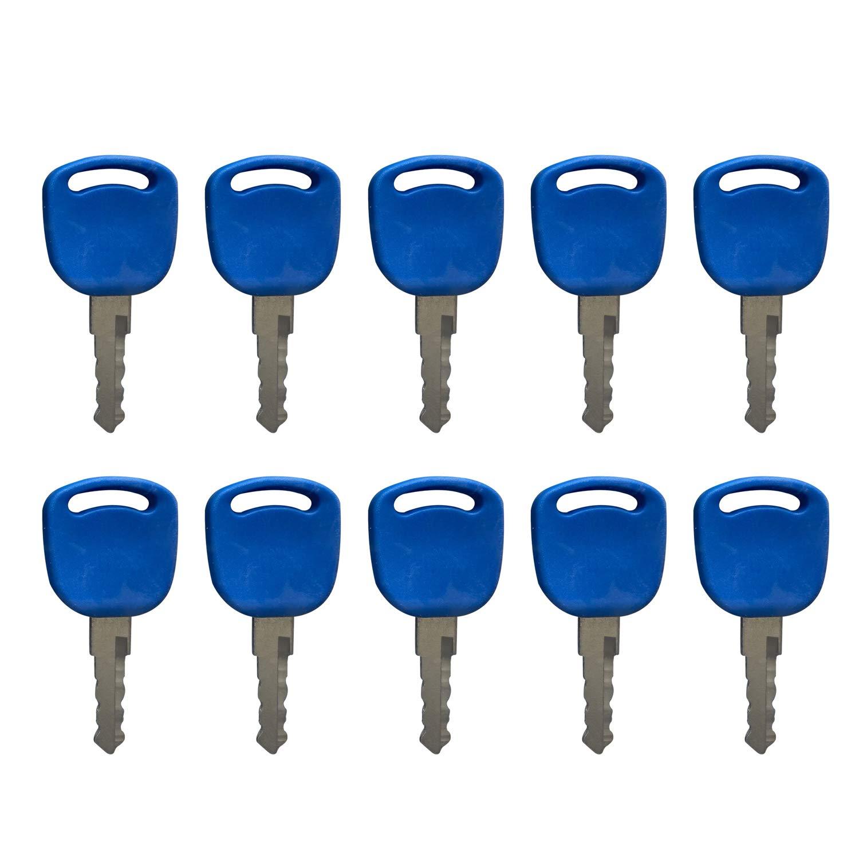 10 Piezas 14601 Llaves de Encendido para For d New Hollan d Tractor TS100A TS115A TS125A TS135A TS6.110 TS6.120 TS6.125 TS6.130 TS6.140 TS6000 TS6020 TS6030 5640 6640 6640O 7740 7740O 7840 TL100 TL70
