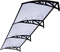 VIVOHOME Polycarbonate Window Door Awning Canopy Clear with Black Brackets 40 Inch x 120 Inch