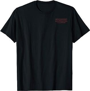 Netflix Stranger Things Logo Outline Left Chest T-Shirt
