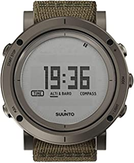 Suunto Essential Slate Digital Dial SS Textile Quartz Men's Watch SS021217000