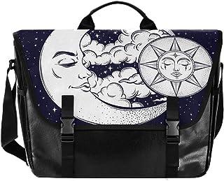 Sun Moon Constellation - Bolso de lona para hombre y mujer, diseño retro de bandolera, ideal para iPad, Kindle, Samsung