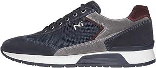 Nero Giardini A800468U Sneakers Uomo in Camoscio E Tela