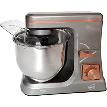 Neo Grey & Copper Food Baking Electric Stand Mixer 5L 6 Speed Stainless Steel Mixing Bowl 800W…
