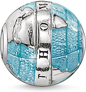 Thomas Sabo Femmes Hommes-Bead Monde Merveilleux Karma Beads Argent Sterling 925 noirci bleu K0036-007-1