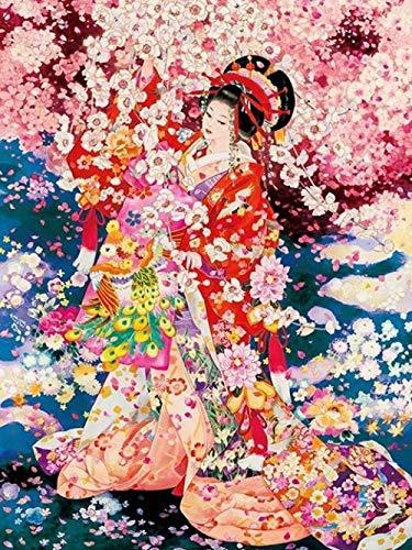 ZHENBK Puzzles 1000 Piezas Geisha Japonesa, Bailarina -249,Obra de Arte de Juego de Rompecabezas para Adultos,Rompecabezas de Piso de Impresión de Alta Definición Multicolor (70x50cm)