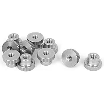 50 Pcs of M5-0.8 DIN 466 303 Stainless Thumb Nuts Knurled Head High Type
