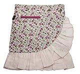 Sunsa Kinder Rock Jeansrock Sommerrock Wickelrock Wenderock aus Baumwolle Zwei optisch Verschiedene Röcke, Größe ist variabel verstellbar durch Druckknöpfe