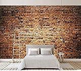XHXI Papel tapiz fotográfico 3D para paredes de dormitorio Mural de pared de ladrillo rojo retro Papel de pare Pared Pintado Papel tapiz Decoración dormitorio Fotomural sala sofá mural-430cm×300cm