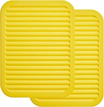 """ME.FAN 9"""" x 12"""" Big Silicone Trivets - Multi-purpose Silicone Pot Holders, Spoon Rest and Kitchen Table Mat - Insulated, F..."""