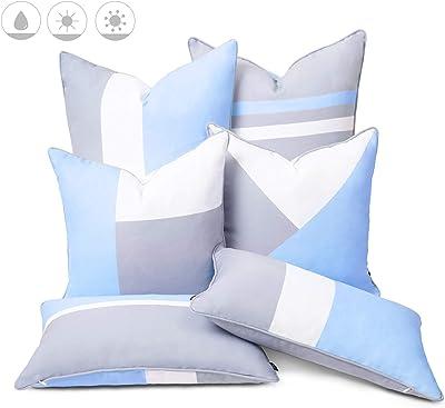 Amazon.com: 3 pieza mimbre Cojín Set – Solid Cancun azul ...
