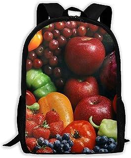 Lily-Shop Variedad de Verduras Frutas Mochila para Adultos Mochila de Viaje Ligera Mochila Unisex con impresión Completa Mochila para Adultos 43cm