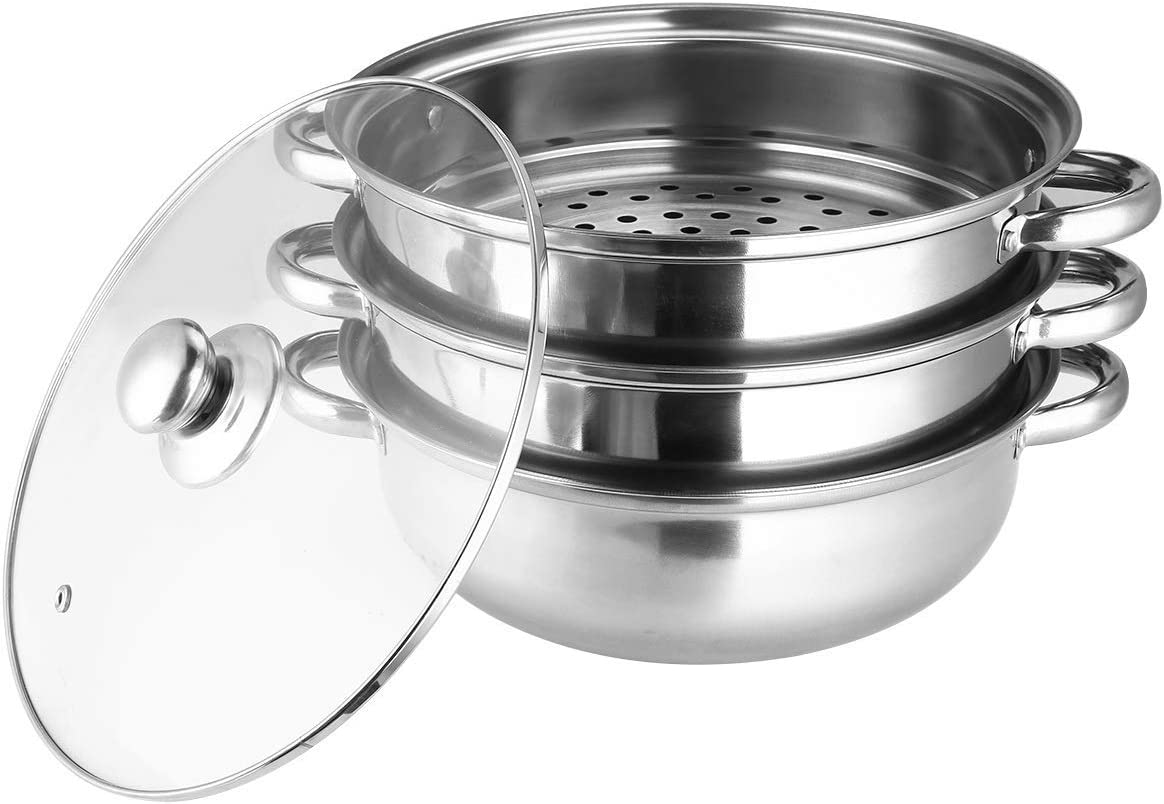 SHUNFENG-Ltd 3Layers Stainless Steel Steamer Quality Atlanta Mall inspection Induction S