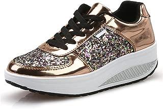 WYSBAOSHU Womens Wedges Platform Shoes Walking Jogging Sneakers