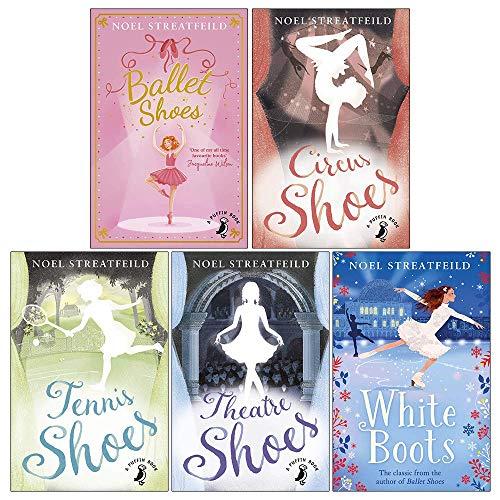 Noel Streatfeild Collection 5 Books Set (Ballet Shoes, Theatre Shoes, White Boots, Tennis Shoes, Circus Shoes)