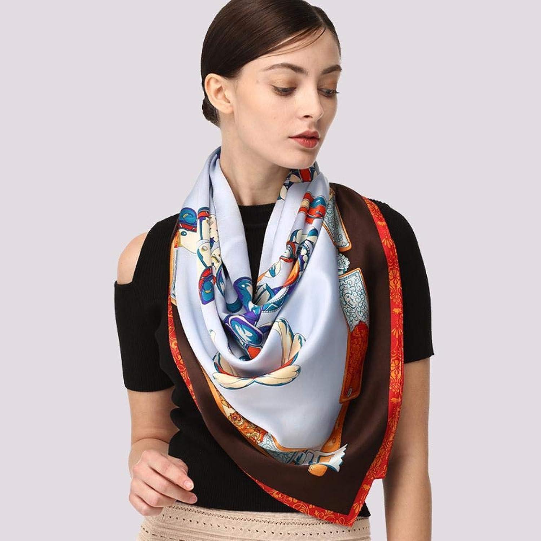 Weiwei Ladies Silk Scarves Silk Scarf Shawl Silk Geblackus Towel 105cm105cm