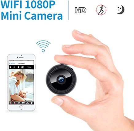 FREDI Mini 1080P HD WiFi Hidden Camera Spy Cam, Small Wireless Home Security Surveillance Cameras with Night Vision, Motion Detection, Remote View for iPhone/Android Phone/iPad/PC