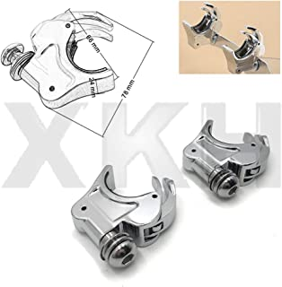 XKMT-2X Chrome 39mm Forks Quick Release Windshield Clamps Compatible With Harley Dyna Sportster [B07NVX6ZH3]