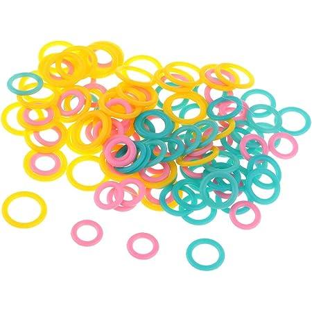 Baoblaze 120pcs Anneaux Tricot en Plastique Coloré Marqueurs Anneaux Outil Tricoteur