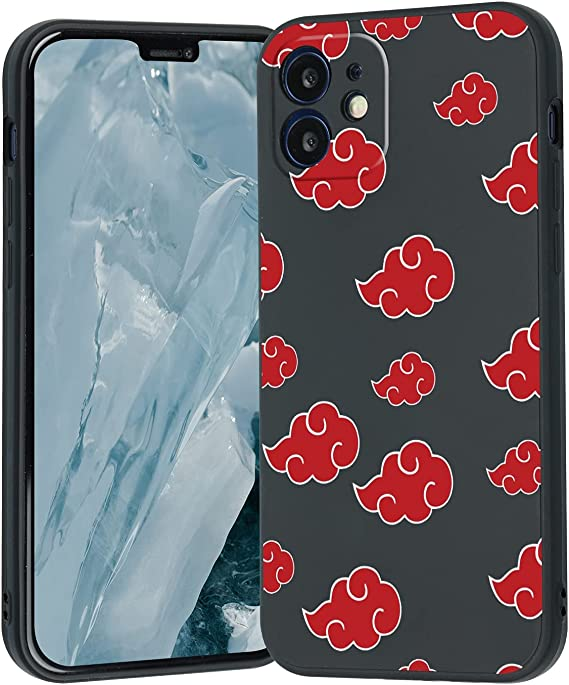 Naruto Anime iPhone X/XS Case,Naruto Akatsuki Cloud Japanese Anime Cute Cartoon Phone Case for Men Women Fans Boys Grils,Design Pattern Shockproof Cool Silicone Case for iPhone X/XS