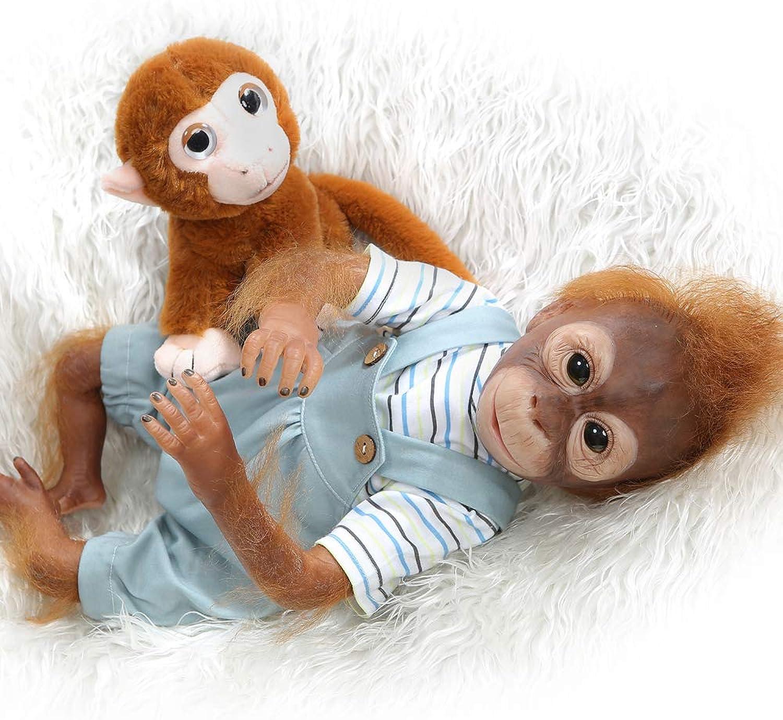 LILITH 21''52cm reborn baby Monkey New 52CM handmade detailed paint Xmas Gift