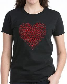 Heart of Ladybugs T-Shirt Womens Cotton T-Shirt