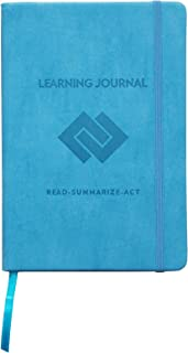 Set and Achieve Learning Journal - Read, Summarize, Act - Blue