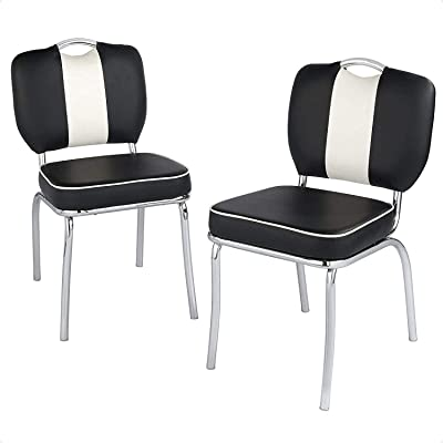Alloy Incline Chair (Color : Black/White)