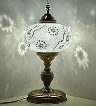 CopperBull 2018 XL Turkish Moroccan Tiffany Style Handmade Mosaic Table Desk Bedside Night Lamp Light Lampshade, XL - 10