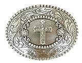 Nocona Crystal Cross Clear Gürtelschnalle Western Buckle Cowboy USA