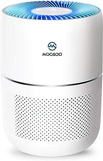 MooSoo 空気清浄機 精密HEPE 人工知能モニター 4色LED空気品質指示 タバコ対応 J100