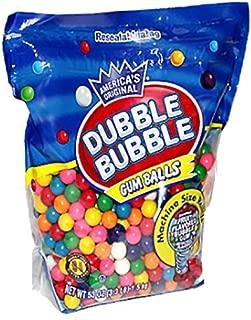 Dubble Bubble Machine Size Gum Ball Refills, 3.3 Lbs