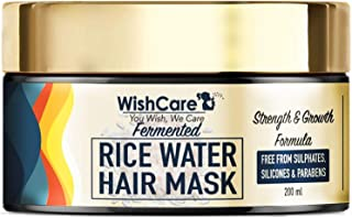 WishCare Fermented Rice Water Hair Mask For Dry & Frizzy Hair - Strength & Growth Formula - Free from Mineral Oils, Sulpha...