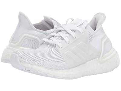 adidas Kids UltraBoost 19 (Big Kid) (White/Grey) Boys Shoes