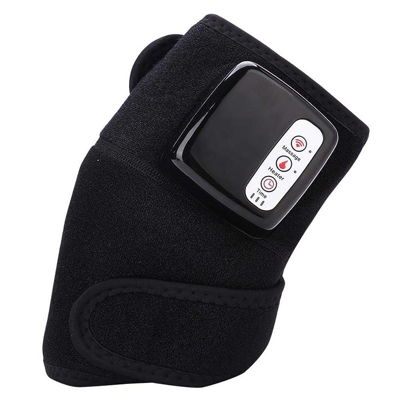 磁石縫い目持続する関節炎疼痛マッサージャー多機能膝マッサージャーニーパッドリウマチ膝マッサージ療法ツール振動熱
