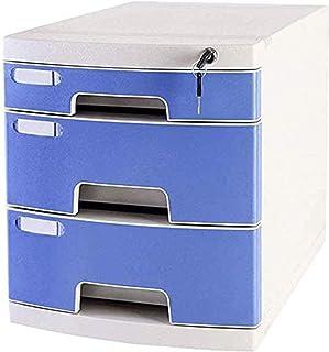 WANGXIAOYUE Armoire de bureau avec serrure et tiroir, armoire mobile multifonctionnelle 3 tiroirs Organiseur de rangement ...